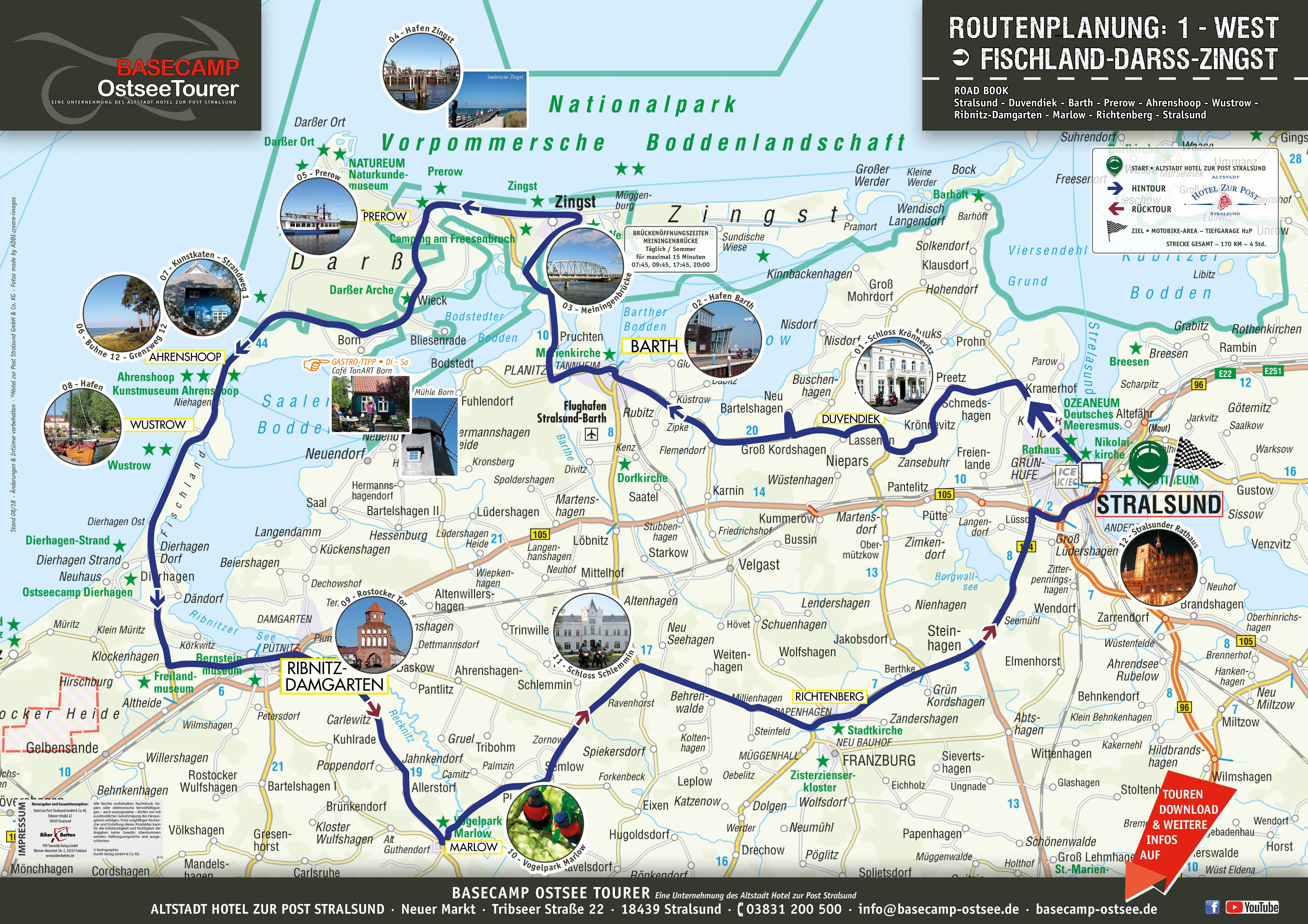 Fischland Darß Zingst Karte.Tour 1 Fischland Darß Zingst